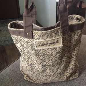 Life is Good Heavy Canvas tote